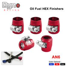 5pcs NEW Fuel Oil AN6 5/6'' Fittings HEX Finishers Clamps 16.0mm Water Tube Hose(China)