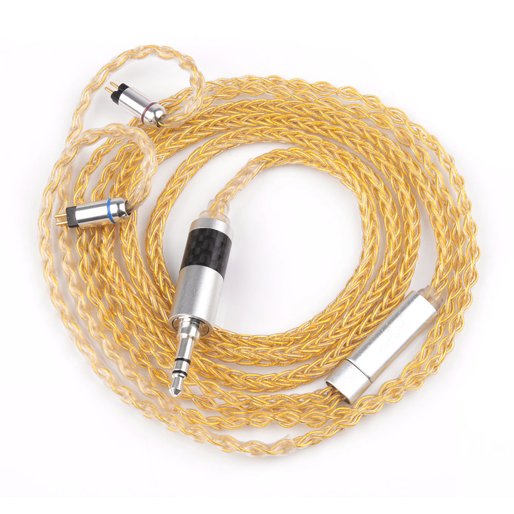 Yinyoo 8 Core Pure Silver Upgraded Cable 2.53.54.4mm Balanced Cable With MMCX2pin Connector For HQ5 HQ6 TFZ ZS10 ZS6 (1)