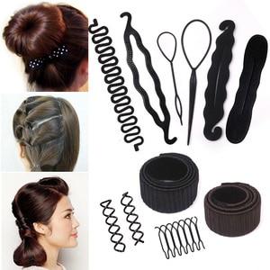 2pcs Invisible Hair Clips for Women Hair Accessories Hairpins Black Hairclip Hair Ornaments Hairpins Black Hairgrips Bun Maker