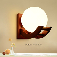 2016 Unique Novelty Night light led Glass ball wall lamps for Home Art Deco AC 90 220V Led Lights For Wall/Kitchen/Bedroom E27