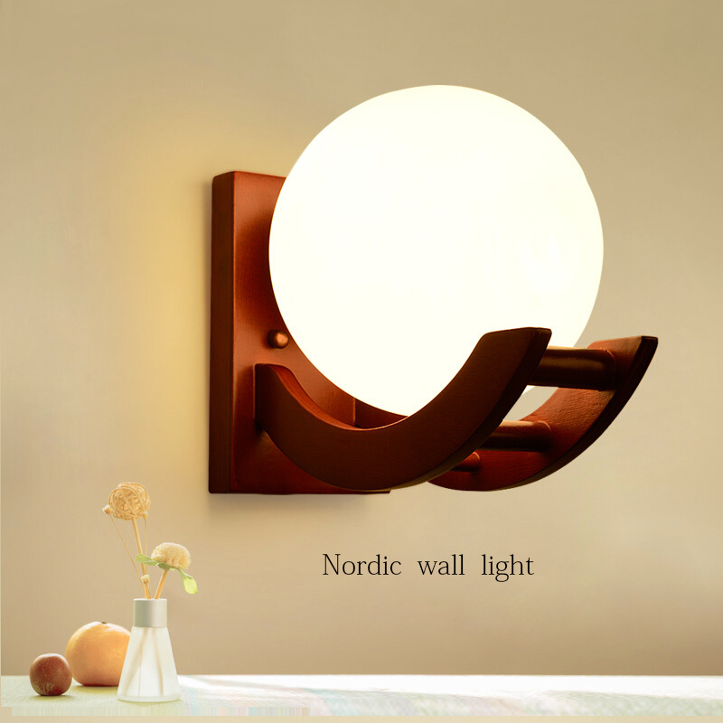 2016 Unique Novelty Night light led Glass ball wall lamps for Home Art Deco AC 90-220V Led Lights For Wall/Kitchen/Bedroom E27 modern magie glass ball led wall lamps art deco led wall lights bedroom bedside wall socnces light fixtures home decor luminaire