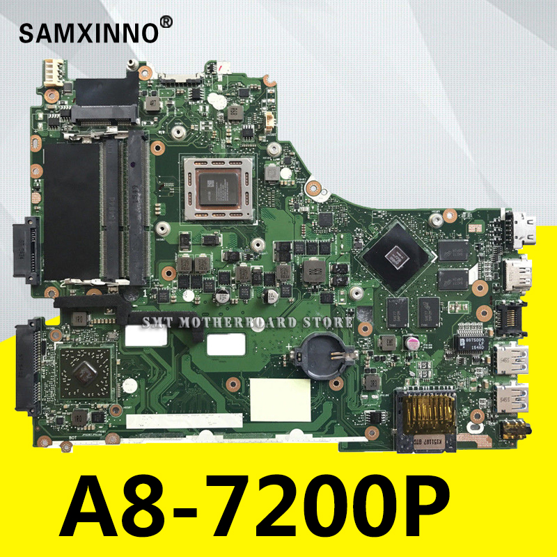 For ASUS VM590Z X550ZE K555Z A555Z X555Z K550Z laptop motherboard A8-7200P-AM740P CPU 2.5GHz cores 4 mainboard LVDS/EDP