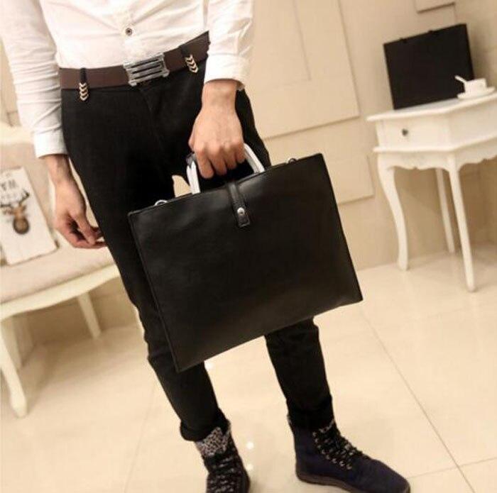 16d607f6538 ... Handbags Black Pu Leather Laptop Briefcase Men Tote Work Bag A4 Large  Capacity Hand Bag Bolsas. Size 36cm(Length)×28cm(Height). 470 471 ...