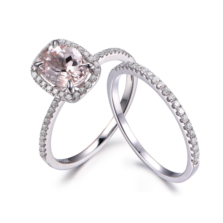 morganite wedding ring sets morganite wedding ring set Morganite wedding ring sets Morganite Wedding Ring Set Rings