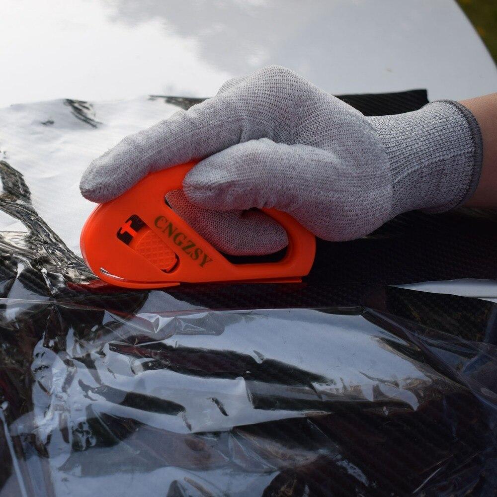 Vinyle Film voiture emballage en Fiber de carbone tissu feutre raclette nettoyage grattoir Art couteau gants autocollant Cutter aimant supports K82 - 6