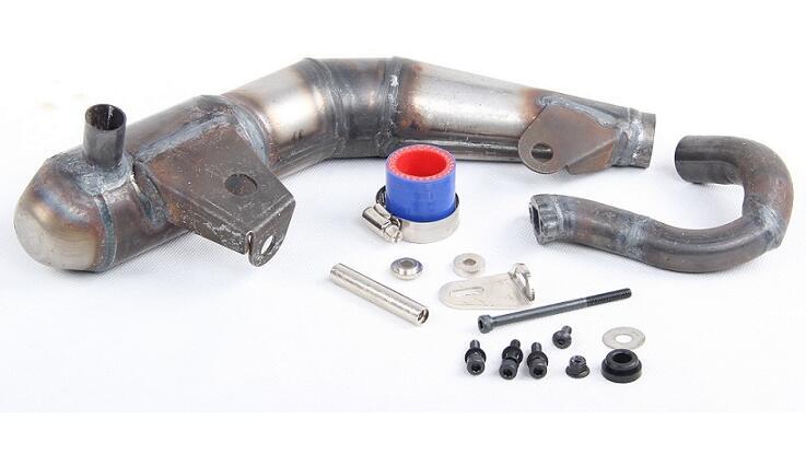 Baja  exhaust pipe For LOSI 5T HPI Ravan KM 87068 walker 88030 exhaust y pipe