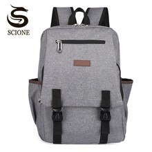 Scione Promotion Large Capacity Canvas School Backpack for Men/Women College Student Bag Casual Travel Back Pack Laptop Backpack