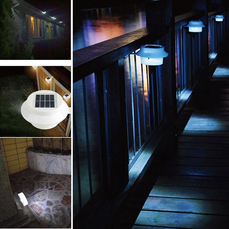 New Outdoor Garden 8 Led Solar Shed Eaves Work Light Lamp: Solar Energy Sink Lamp 3LED Solar Fence Light Eaves Solar