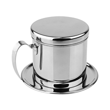 Portable Coffee Dripper Vietnamese Maker Stainless Steel Filter Pot Outdoor Tableware Travelling