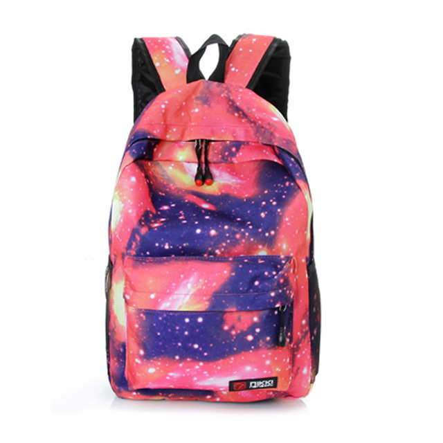 Hot Student School Bag Space Flag Print Backpack Fashion Knapsack Laptop Travel Satchel Rucksack Pack bolsa mochila Mujer A1097B