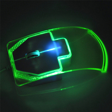 JETTING New Optical Mouse Mice Transparent Crystal Arrow for PC Laptop Notebook Windows 95/98/NT/ME/2000/XP/Vista WIN7 WIN8 Best