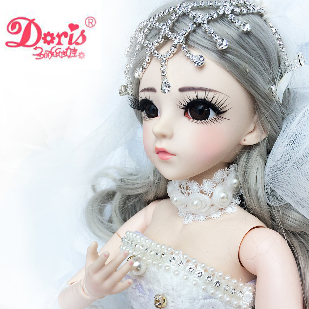 24 BJD Full Set + Tiffan 1/3 Doris BJD Doll 24 60cm jointed dolls SD Doll Girl Boy Toy Gift doll + Accessories Wigs Clothes american girl doll clothes superman and spider man cosplay costume doll clothes for 18 inch dolls baby doll accessories d 3