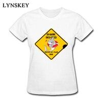 レディースサメtシャツ夏100%天然コットンいいえポケットデザインゴールデンロゴグラフィックtシャツ面白い女