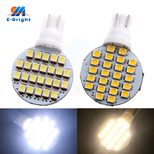 10-100pcs Round 12V White/Warm White T10 1210 24 SMD Led Bulb Turn Tail Warning Rear Stop Signals Reverse Light Free Shipping