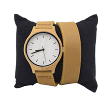 Bamboo Watch For Women With Japenese MIYOTA Movement Long Straps Leather Wristwatch For Christmas  цены