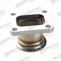 Mild Steel Adaptor For T4 4Bolt To 2.5\ V Band Flange Fit For Toyota Acura Honda