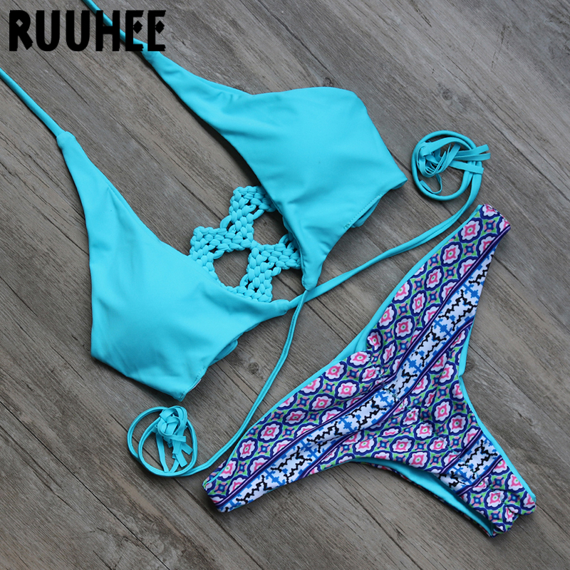 2016 Sexy Push up Summer Beach Biquini Bathing Suit Women Swimsuit Swimwear Beachwear Padded Bikini Set Bikinis maillot de bain summer sexy triangle cross bikini set swimwear women padded tankini beach one shoulder top swimsuit bathing maillot de bain