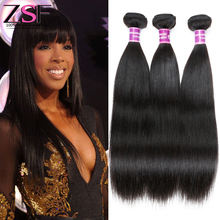 8A ZSF Hair Products Remy Brazilian Virgin Hair Straight Natural Color  Unprocessed Brazilian Straight Hair Full Cuticle