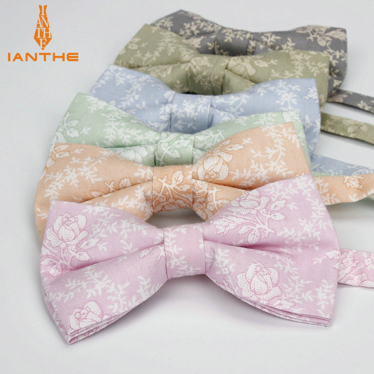 Brand New Novelty Flower Man's Adjustable Cotton Bowtie Butterfly Bow Tie Necktie Gravata Borboleta Bow-tie Men Prom Party