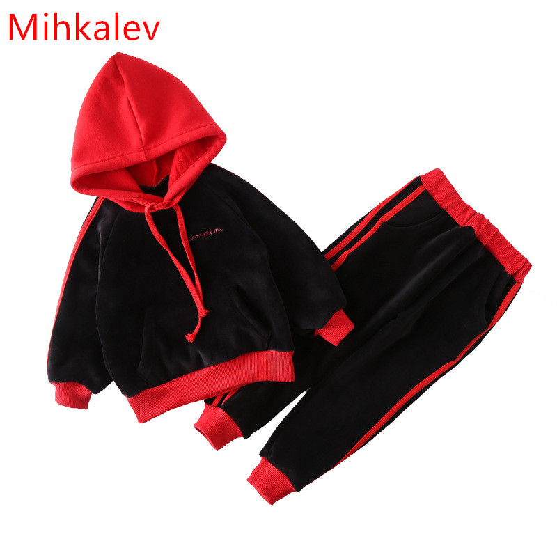 Mihkalev autumn winter winter suits for boys clothes sets for children sport suits hooded sweatshirts and pants girl clothing autumn winter boys clothing sets kids jacket pants children sport suits boys clothes set kid sport suit toddler boy clothes