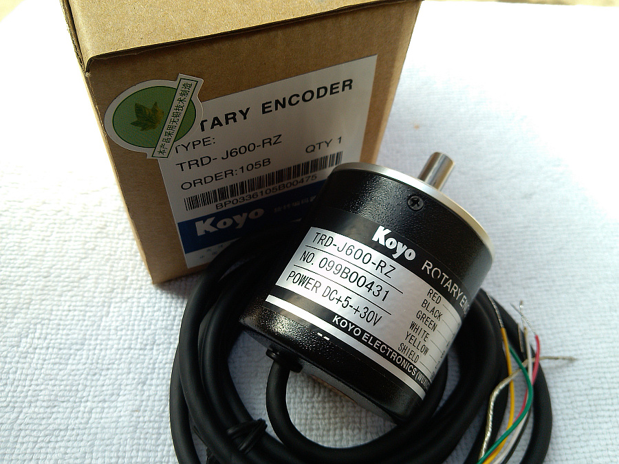 все цены на  Freeship Koyo incremental rotary encoder  TRD-J600-RZ TRD-J600RZ Shaft Diameter 8mm DC 5V to 30V  1-year warranty  онлайн