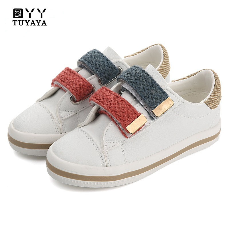 Kids Shoes for Girl Children PU Leather School Shoes Boys Sneakers 2018 Autumn Girls Shoes White Shoes Fashion Boys Loafers