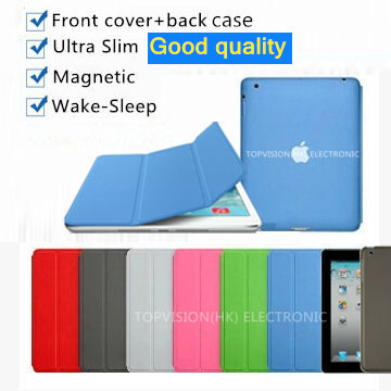 2 in 1 transparent hard back case+ pu leather magnetic smart cover for apple ipad pro 9.7 air 1 2 case cover thin slim flip skin