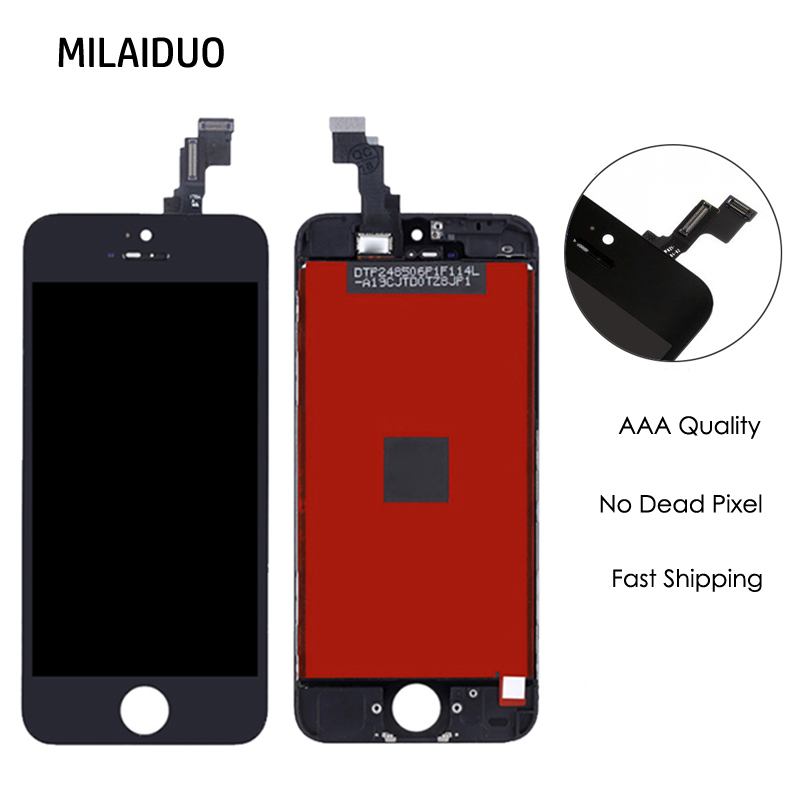 1PC A Quality LCD Display For iPhone 5s LCD Touch Screen Digitizer Replacement With Touch Assembly