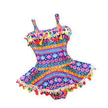 2-8Y Baby Girl Swimwear One Piece Swim Suit Print Summer Korean Style Children Swimsuit Kids Bathing Suits Girls Beach Dress(China)