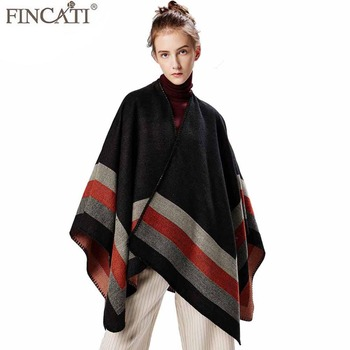 Autumn Winter Oversized Fashion Poncho Blanket Shawl Cape Scarves Striped Knitted New Scarf Size 51.2 x 59.1'' фото