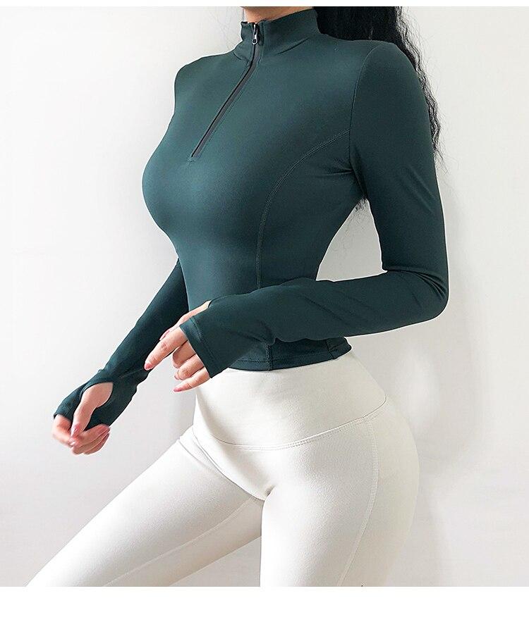 manga curta para academia yoga camisa feminina