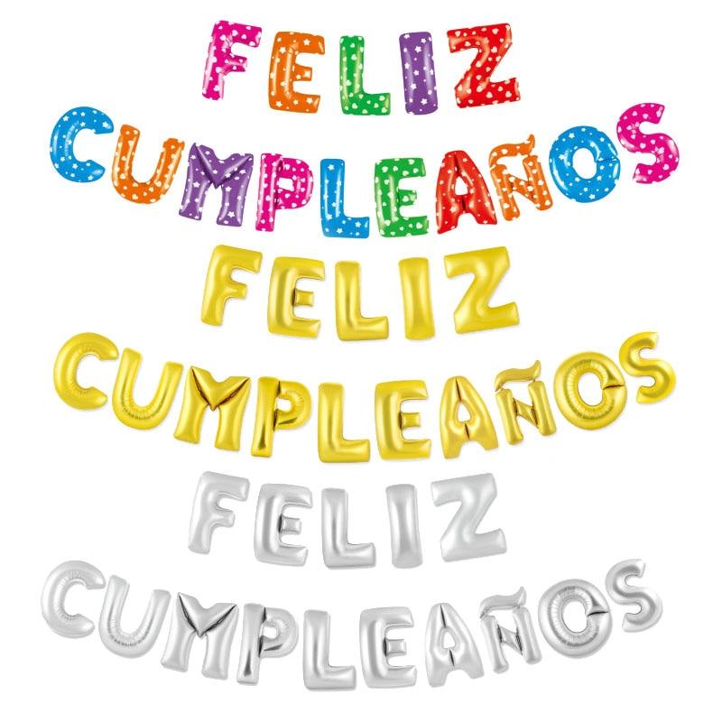 Fine Spain Happy Birthday Letter Foil Balloons Spanish Language Feliz Funny Birthday Cards Online Alyptdamsfinfo