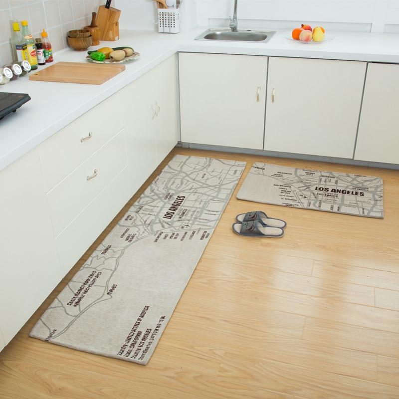 DingDian moderne simple paillasson tapis tapis salle de bains cuisine porte antidérapant absorbant tapis