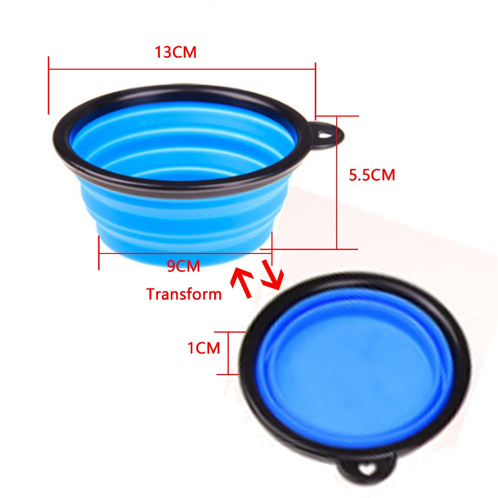 Pet Folding Portable Dog Cat  Bowls Pet Products Silicone Bowl  Wholesale For Food The Dog Drinking Water Bowl Pet Bowls #6