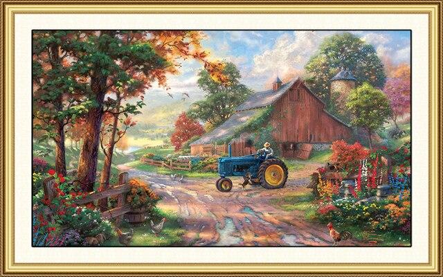 Vivienda cerca de maquinaria agr cola pintado a mano pinturas al leo lienzo alta calidad - Gastos vendedor vivienda segunda mano ...