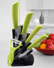 High Quality kitchen knives Ceramic Knife Sets 3″ 4″ 5″ 6″ inch + Peeler+Holder  Six-piec Set R0018