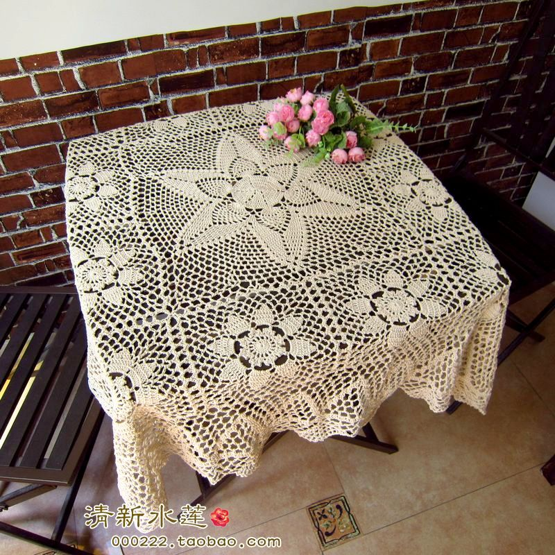 2014 new fashion cotton crochet lace tablecloth for home ...