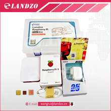 G ahududu pi kiti-Ahududu Pi 3 Kurulu + 5 V 2.5A Güç Kaynağı + kılıf + Isı Emici Raspberry Pi 3 Model B Için wifi & bluetooth