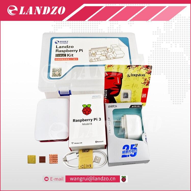 raspberry pi kit Raspberry Pi 3 Board 5V 2 5A AU Power Supply Case Heat Sink