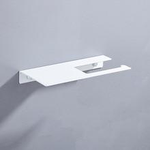 Космическая алюминиевая многофункциональная бумажная стойка для ванной/кухни, креативная и удобная полка для ванной комнаты, черный/белый бумажный держатель для полотенец