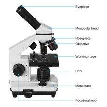 Профессиональный Биологический Микроскоп Вверх и Вниз Светодиодов 40X-1280X Студентов Образовательные Науки Лабораторного Микроскопа