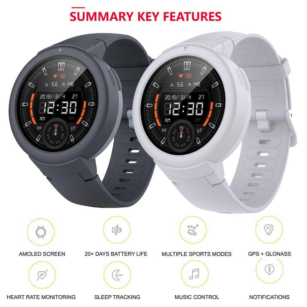 Versión en inglés AMAZFIT Verge Lite reloj inteligente hombres 20 días batería de vida 1,3 pulgadas de Pantalla AMOLED incorporado GPS Monitor de ritmo cardíaco