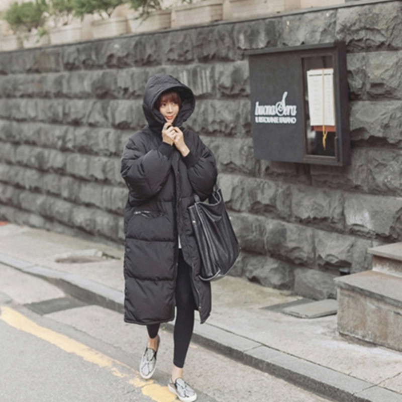 2016 Korea Fashion Female Outwear Thick Warm Parka Oversize Fur Duck Down Winter Coat Women Retro
