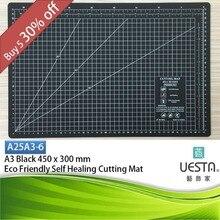 Schwarz 2,5mm Rechteck Self Healing Umweltfreundliche TPE Schneidematte A3 45×30 cm 18×12 zoll