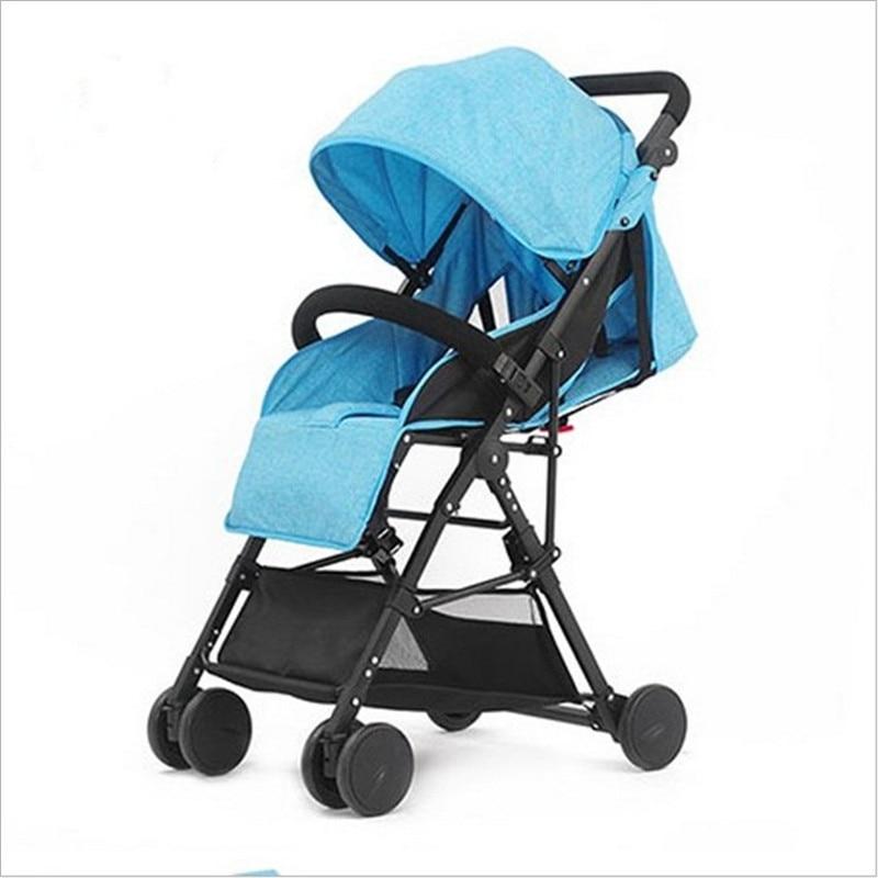 цена на 3 in 1 Bebe Umbrella Car High Landscape Ultra-light Baby Stroller Folding Baby Girl&Boy Carriage 0-3 Years Old Purple,Red,Blue.
