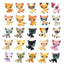 Rare font b pet b font shop lps toys standing short hair cat pink 2291 grey
