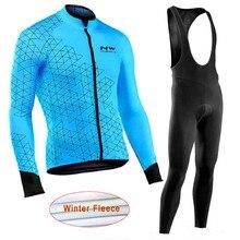 З Велосипеды Джерси Зима теплоизолирующего флиса длинные рукава гоночный велосипед одежда для горного велосипеда Ropa Ciclismo Hombre C27