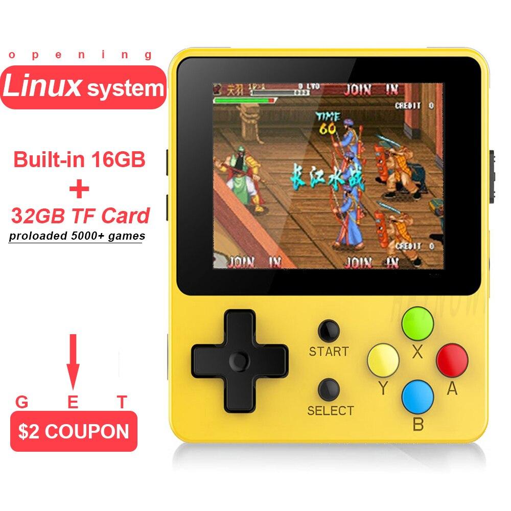 Öffnung Linux Retro Spielkonsole 2,6 Zoll Ldk Nostalgischen Kinder Retro Spiel Mini Familie Tv Video Konsolen Mini Handheld Player Videospiele