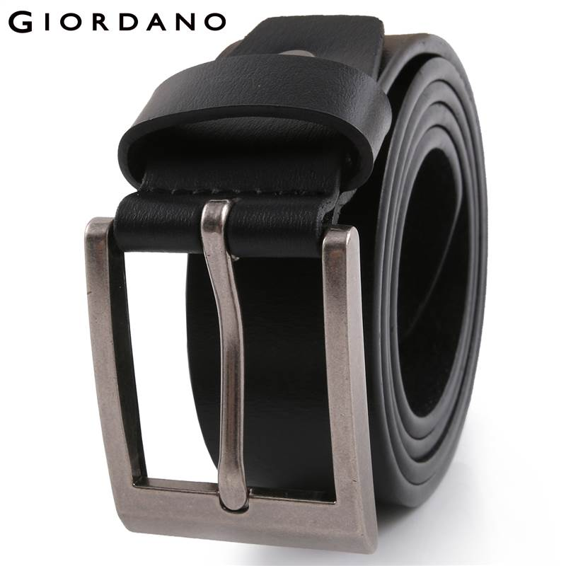 Giordano Men Belt Cinto Masculino Split Leather Cinturones Hombre Hight Quality Metal Buckle Belts Brand Clothing