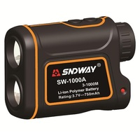 SNDWAY SW 1000A 1000M Laser Range Finder Scope Meter Speed Measurer Monocular Rangefinder 7X Distance Outdoor